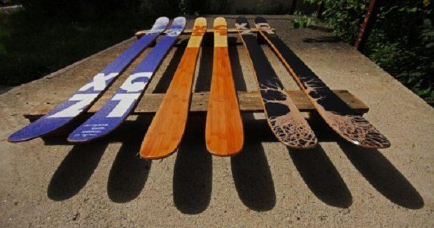 Лыжи ручного производства от компании XQZT Skis