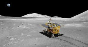 Луноход «Юйту», сфотографированный межпланетной станцией «Чанъэ-3»