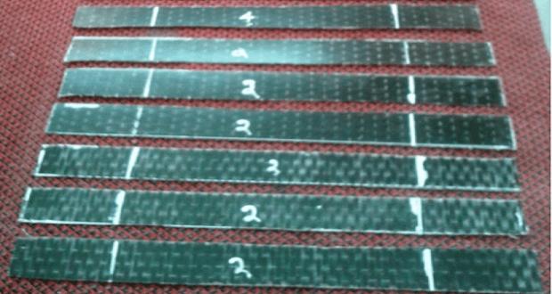 Образцы для испытания на растяжение однонаправленного базальтового волокна с эпоксидной матрицей