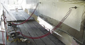 Construction of Fiber Reinforced Polymer (FRP) Jackets for the Protection of Pier Caps