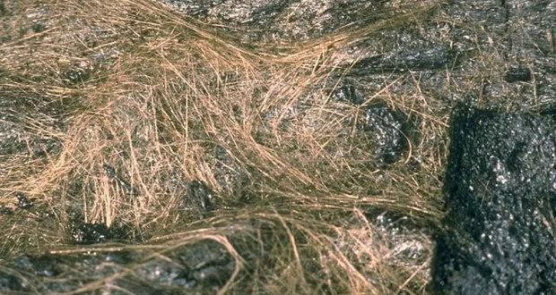 На Гавайях базальтовое волокно сыплется с неба