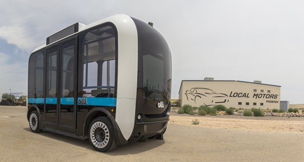 The USA demonstrated a self-driving 3D-printed bus