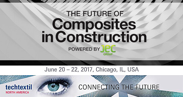 Techtextil North America to be held jointly with Future of Composites in Construction