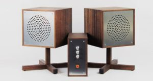 Designer from Sweden used basalt composite in his vintage HiFi system