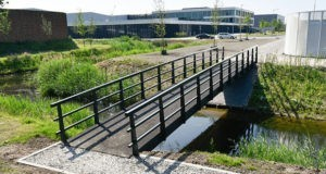Biobased basalt composite bridge built in the Netherlands