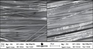 Basalt Fibers: Biaxial Ba salt (Left), Plain Weave Basalt (Right)