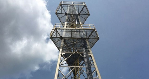 CSSI installed entirely composite communications tower in Massachusetts