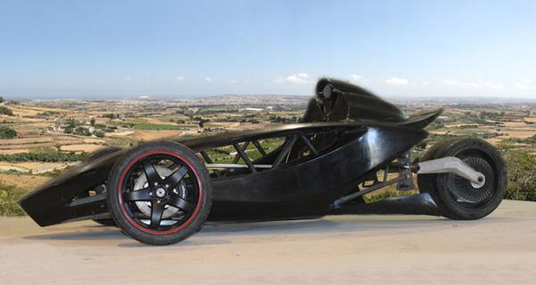 Unique electric sports car Black Mamba: a composite solution from Malta