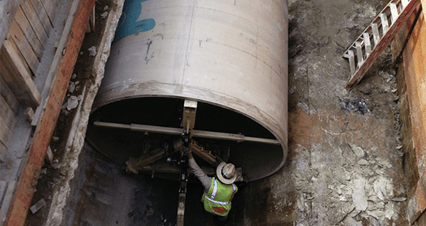 Houston (US) replaced reinforced concrete sewer pipes with composite ones