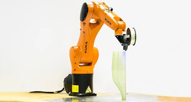 Robotic arm for 3D basalt fiber printing is the winner of JEC Innovation Award 2017