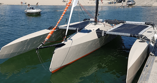 Basalt composite is used for trimarans in France